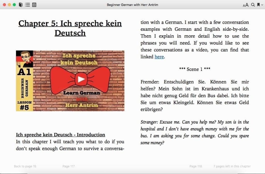 Chapter 5: Ich spreche kein Deutsch