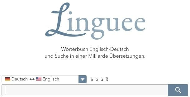 Herr Antrim's Recommended Resources: Linguee Online Dictionary