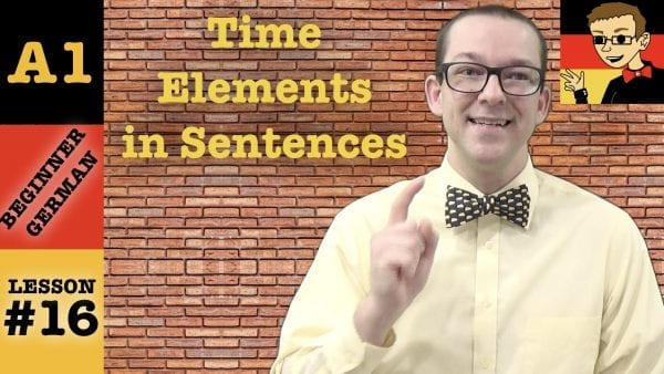 German Time Element Word Order