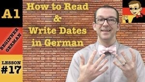 How to Read and Write Dates in German