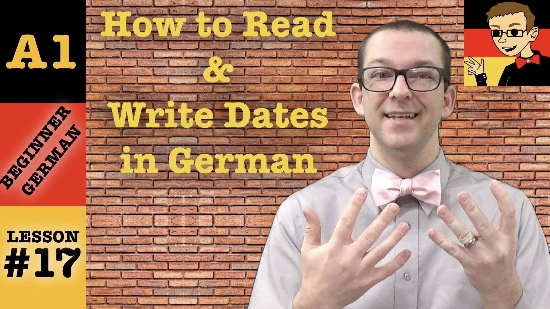 Read & Write Dates in German