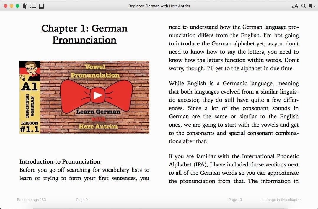 Beginner German with Herr Antrim Chapter 1: German Pronunciation