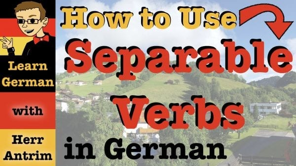 German Separable Prefix Verbs