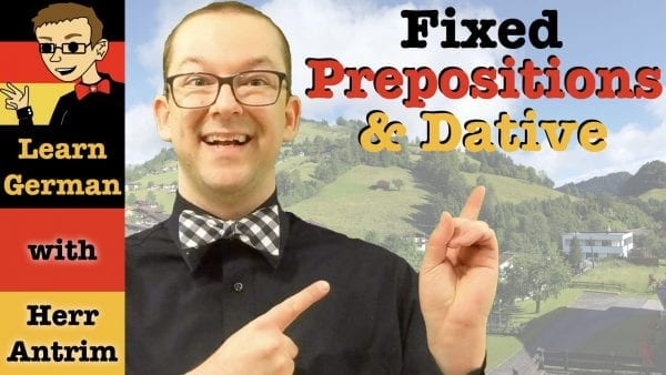 Verbs with Fixed Prepositions and Dative Case