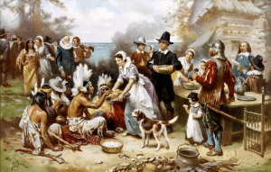 1st Thanksgiving Traditional Depiction