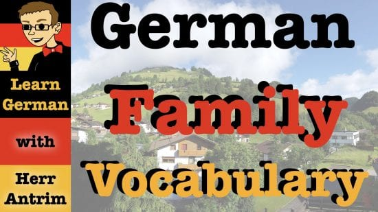 German Family Vocabulary